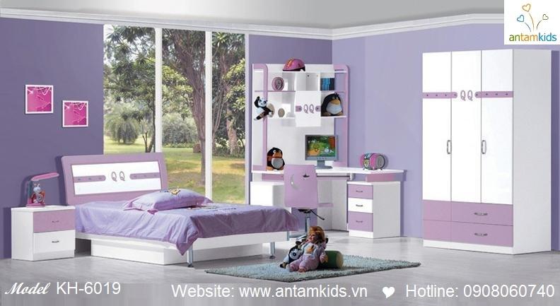 Phòng ngủ trẻ em KH-6019 giá rẻ nhất   Noi That Tre Em AnTamKids