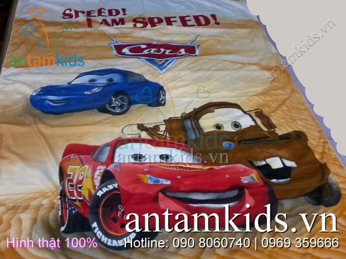 Bộ chăn ga gối McQueen ATKDS10 - Mền drap hoạt hình ô tô sành điệu cá tính cho bé trai! AnTamKids.vn