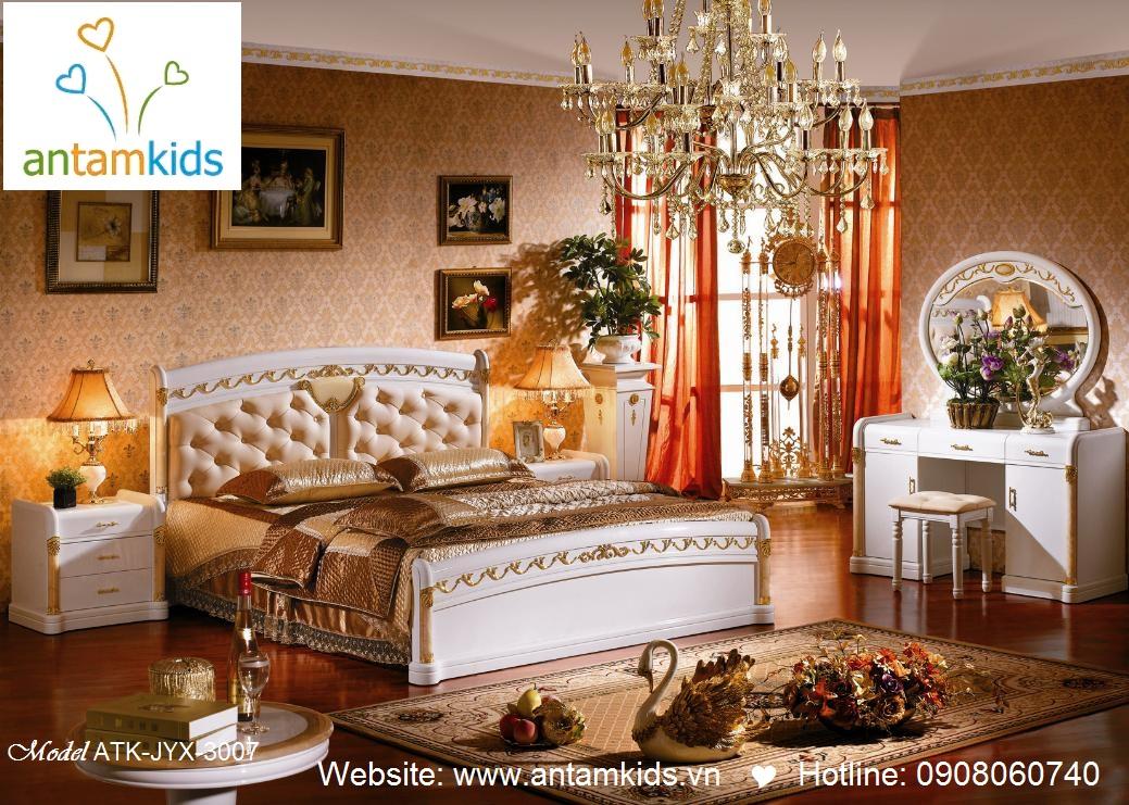 Phòng ngủ cổ điển ATK-JYX-3007 đẹp & sang trọng  Noi That Phong Ngu AnTamKids