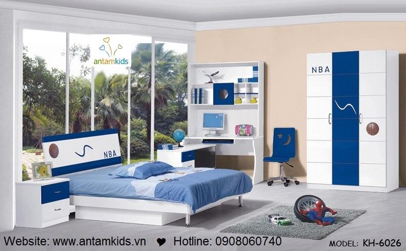Phòng ngủ trẻ em KH-6026 giá rẻ nhất  Noi That Tre Em AnTamKids