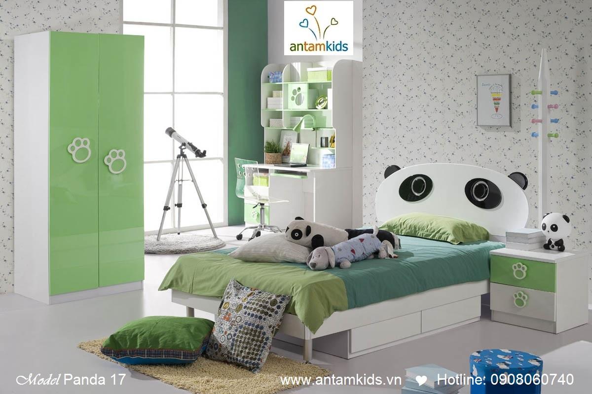 Bộ phòng ngủ cho bé trai  bé gái Tomi & Niki tuyệt đẹp nhập khẩu mới nhất 2013, gấu trúc panda - Nội thất trẻ em AnTamKids.vn