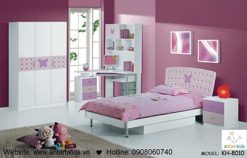 Phòng ngủ trẻ em KH-8010 đẹp thiên thần | PHONG TRE EM ANTAMKIDS