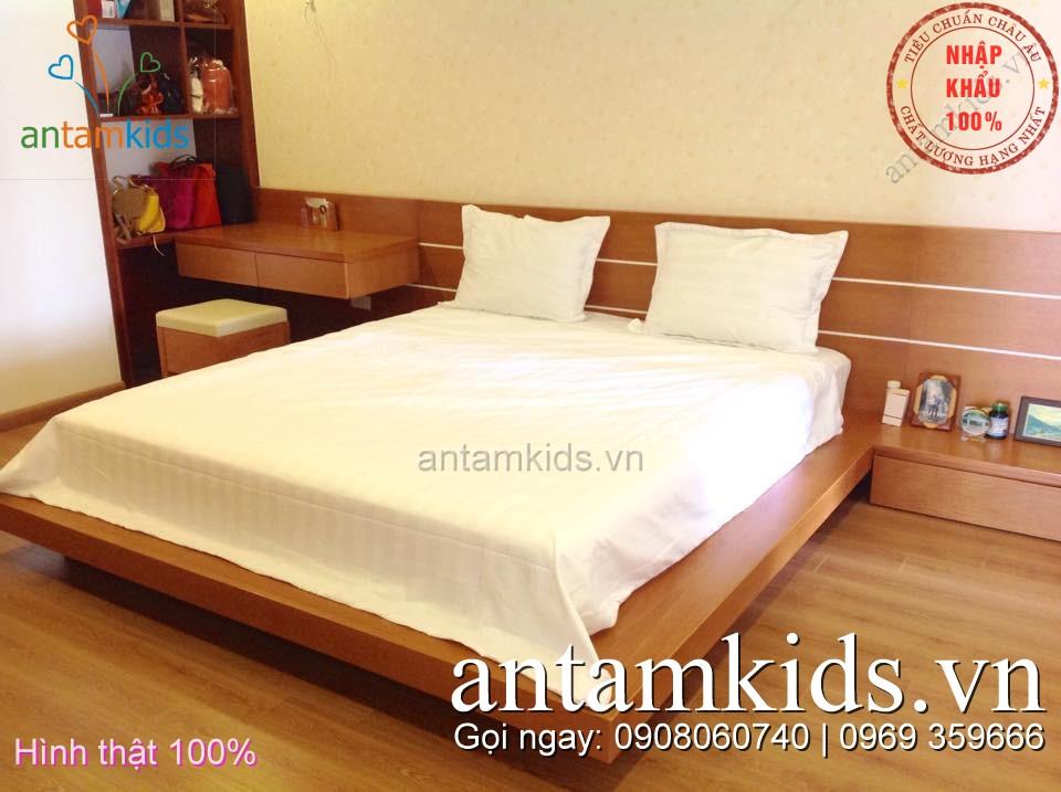 Chăn ga khách sạn Kẻ trắng đẹp antamkids.vn
