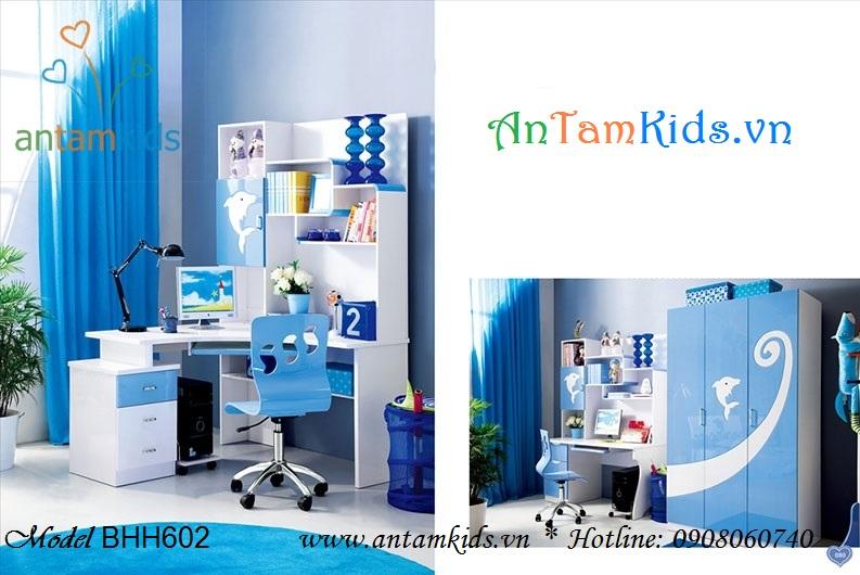 Bàn trẻ em BHH602 màu xanh dương mua ở đâu giá tốt nhất năm 2013? - AnTamKids.vn