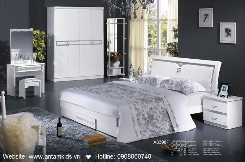 Phòng ngủ hiện đại A3398 đẹp & sang trọng | Noi That Phong Ngu AnTamKids