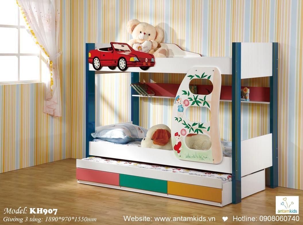 Giường 3 tầng trẻ em KH907