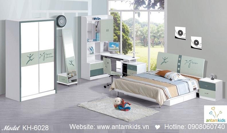 Phòng ngủ trẻ em KH-6028 giá cực rẻ | Noi That Tre Em AnTamKids