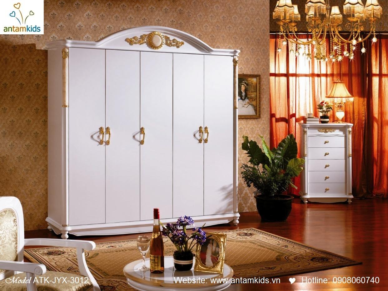 Phòng ngủ cổ điển ATK-JYX-3012 đẹp & sang trọng   Noi That Phong Ngu AnTamKids