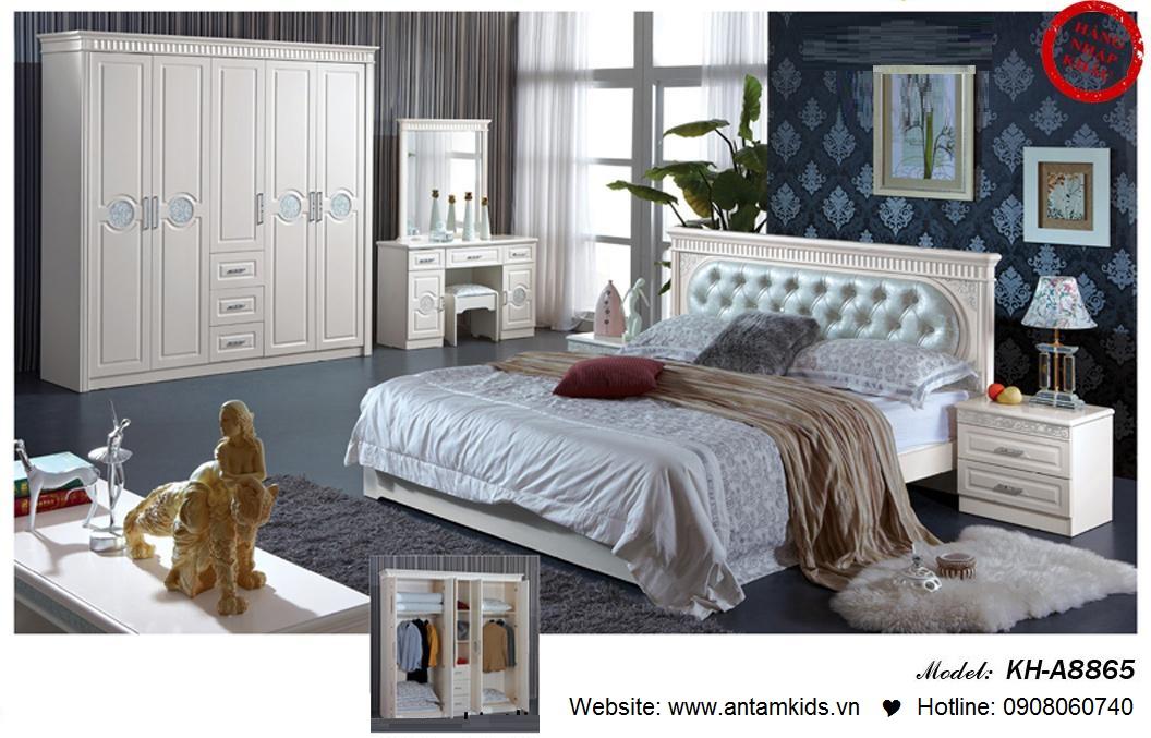 Phòng ngủ KH-A8865, noi that phong ngu, phong cuoi dep, phong ngu han quoc