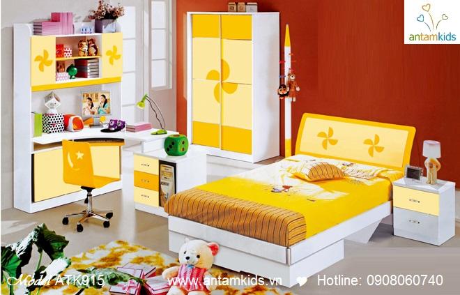 Bộ phòng ngủ trẻ em ATK915 chong chóng màu vàng rất đáng yêu - mẫu mới 2013 - AnTamKids.vn