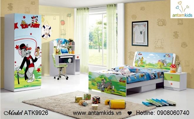 Bộ phòng ngủ trẻ em ATK9926 Tom&Jerry xinh yêu rẻ đẹp | AnTamKids.vn