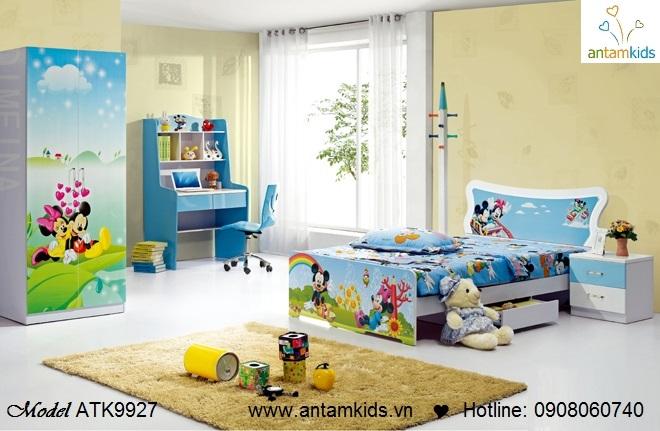 Bộ phòng ngủ trẻ em ATK9927 Vịt Donald hoạt hình dễ thương - mẫu mới 2013 - AnTamKids.vn