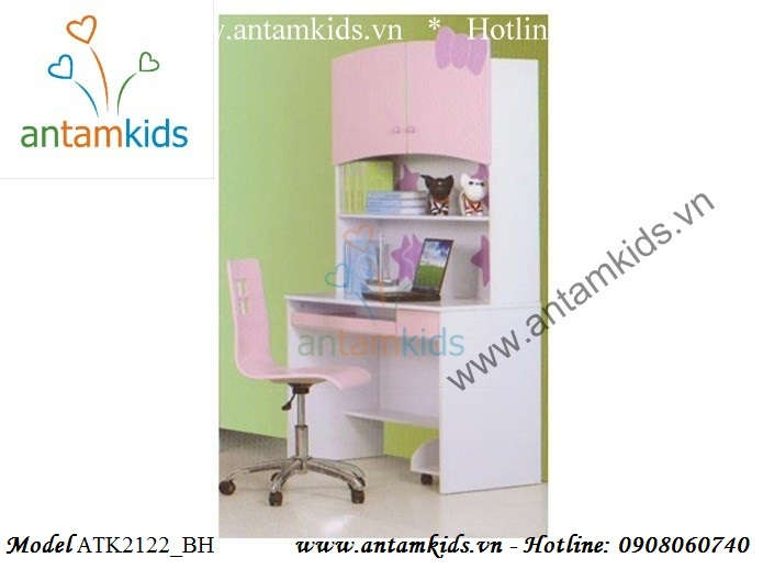 Phòng ngủ ngộ nghĩnh Hello Kitty màu hồng ATK2122 cho bé gái