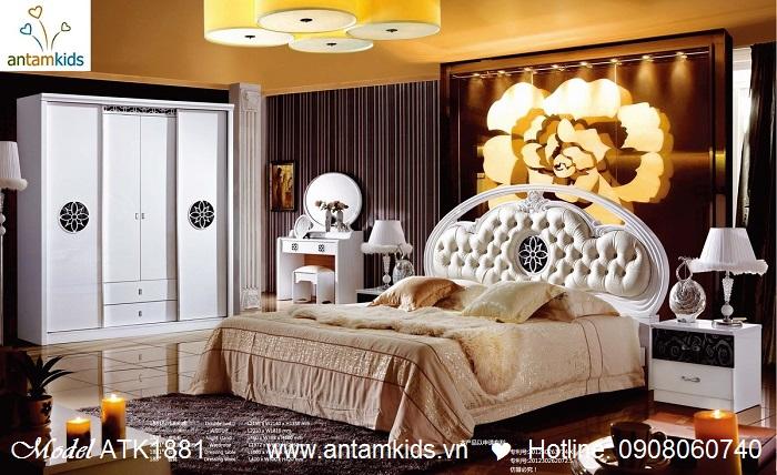 Phòng ngủ đẹp Rose ATK1881 giá tốt nhất tại Hà Nội | Noi That  AnTamKids.vn