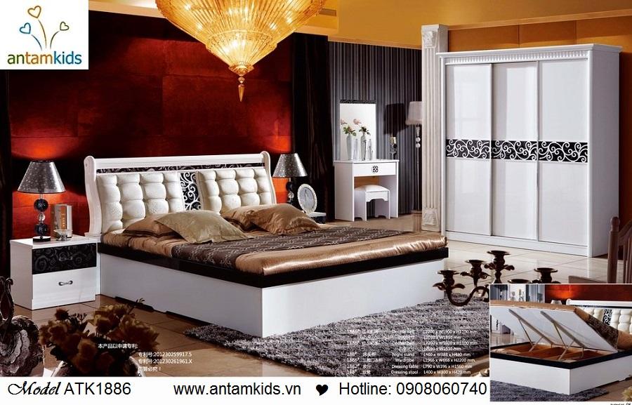 Phòng ngủ hiện đại Rose ATK1886 giá tốt nhất tại Hà Nội | AnTamKids.vn