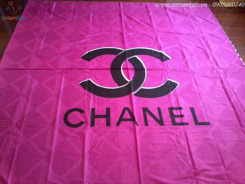 Chăn ga gối mền drap thương hiệu hàng hiệu Chanel hồng xám đẹp sang trọng quyến rũ & cá tính sành điệu - AnTamKids.vn