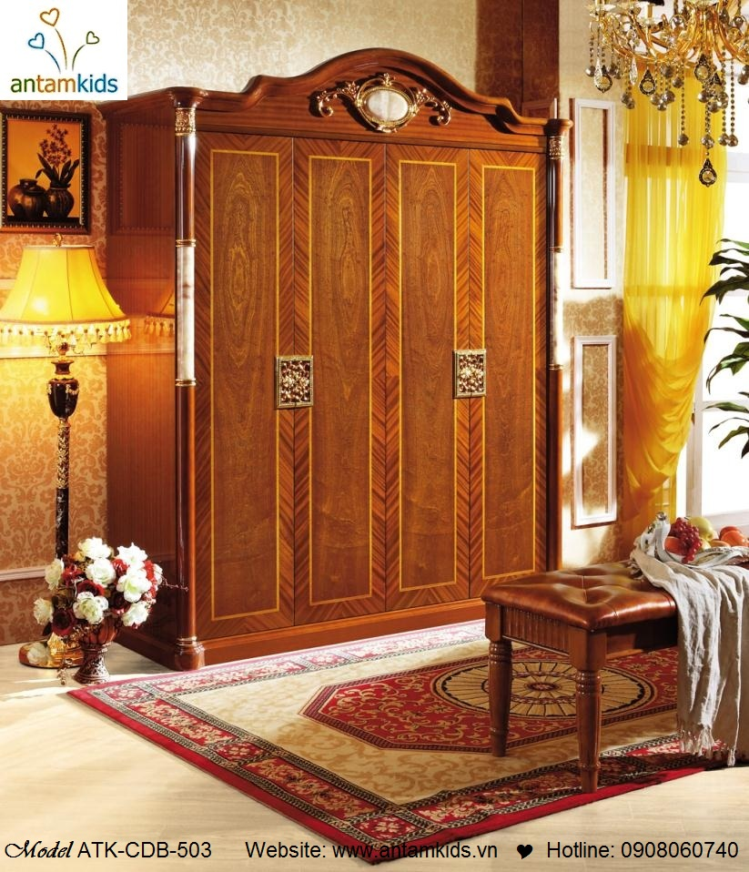 Nội thất cổ điển cao cấp nhập khẩu, Nội thất phong cách châu Âu cổ điển siêu đẹp! AnTamKids.vn