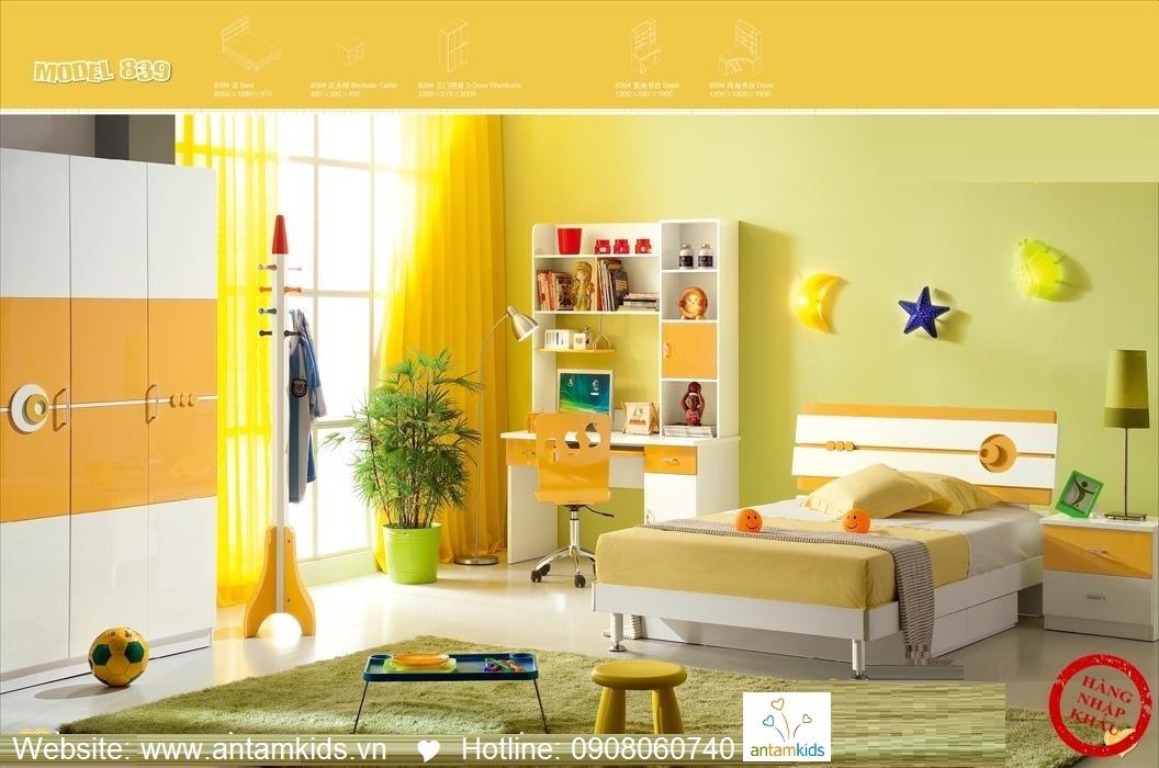Phòng ngủ trẻ em H839 xinh xắn giá cực tốt| Noi That Tre Em AnTamKids