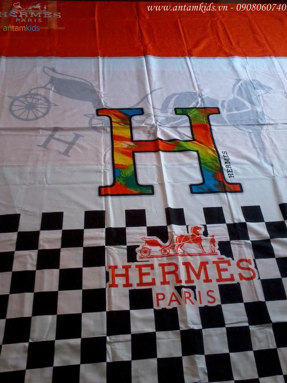 Chăn ga gối mền drap thương hiệu hàng hiệu Hermes Paris sang trọng quyến rũ & cá tính sành điệu - AnTamKids.vn