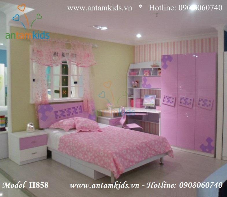 Bộ phòng ngủ cho bé gái H858