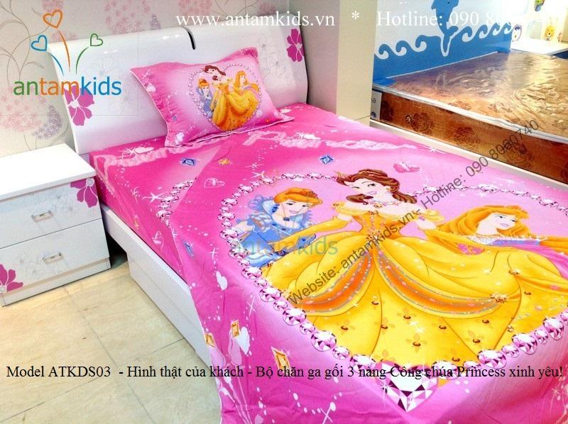 Chăn ga gối đệm trẻ em cho bé trai bé gái antamkids disney cao cấp nhập khẩu
