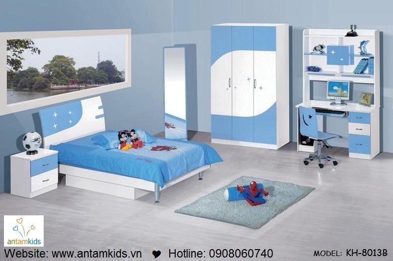 Phòng ngủ trẻ em KH8013B đẹp thiên thần | PHONG TRE EM ANTAMKIDS