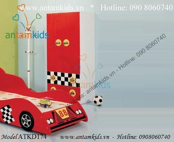 Bộ phòng ngủ hình xe ô tô ATKD112B
