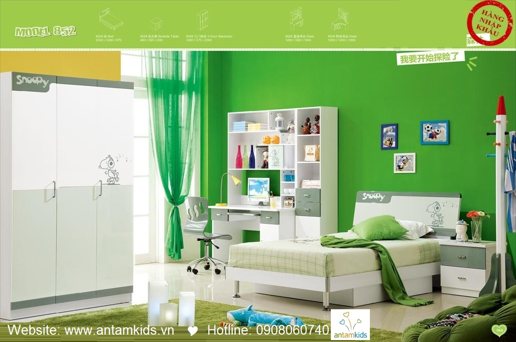 Phòng ngủ cho bé H852 đẹp thiên thần | PHONG TRE EM ANTAMKIDS