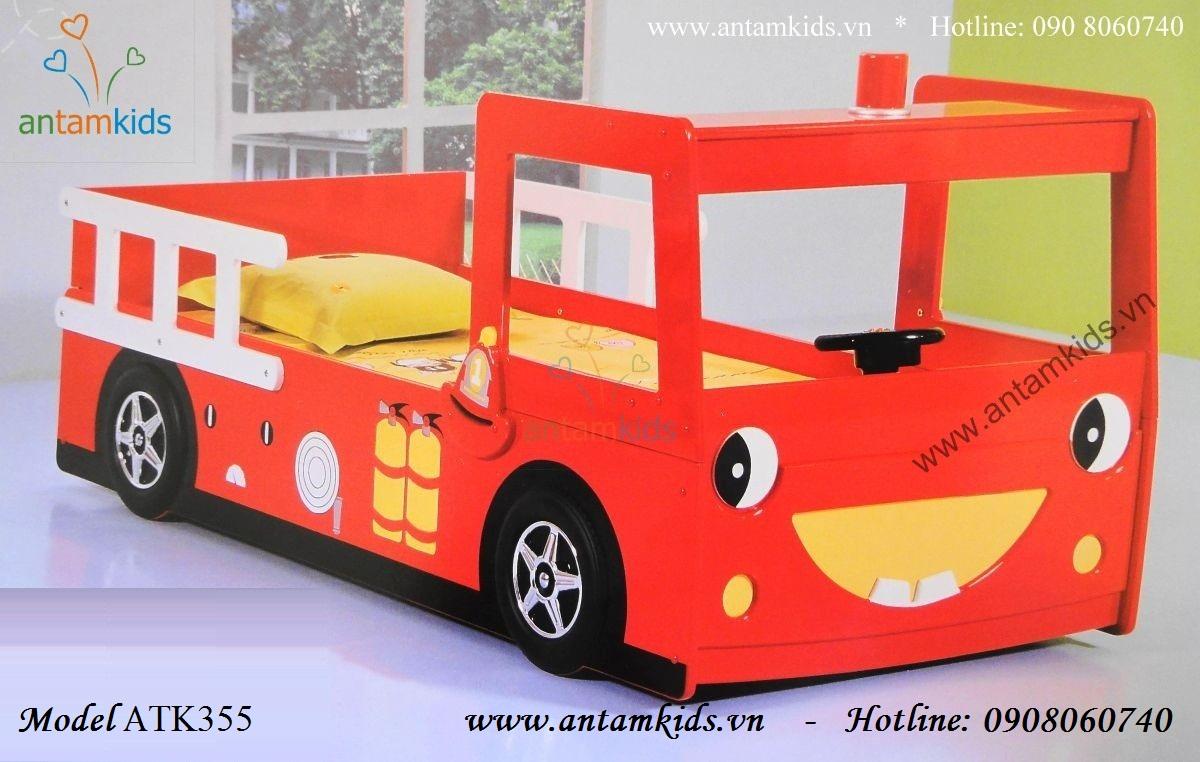 Giường xe ô tô Cứu hỏa cho bé trai, giường ô tô trẻ em, giường ngủ hình oto