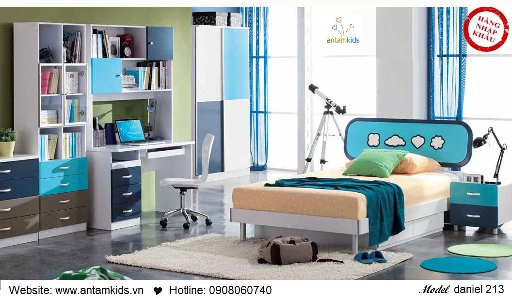 Phòng ngủ cho bé Daniel 213 đẹp thiên thần   PHONG TRE EM ANTAMKIDS