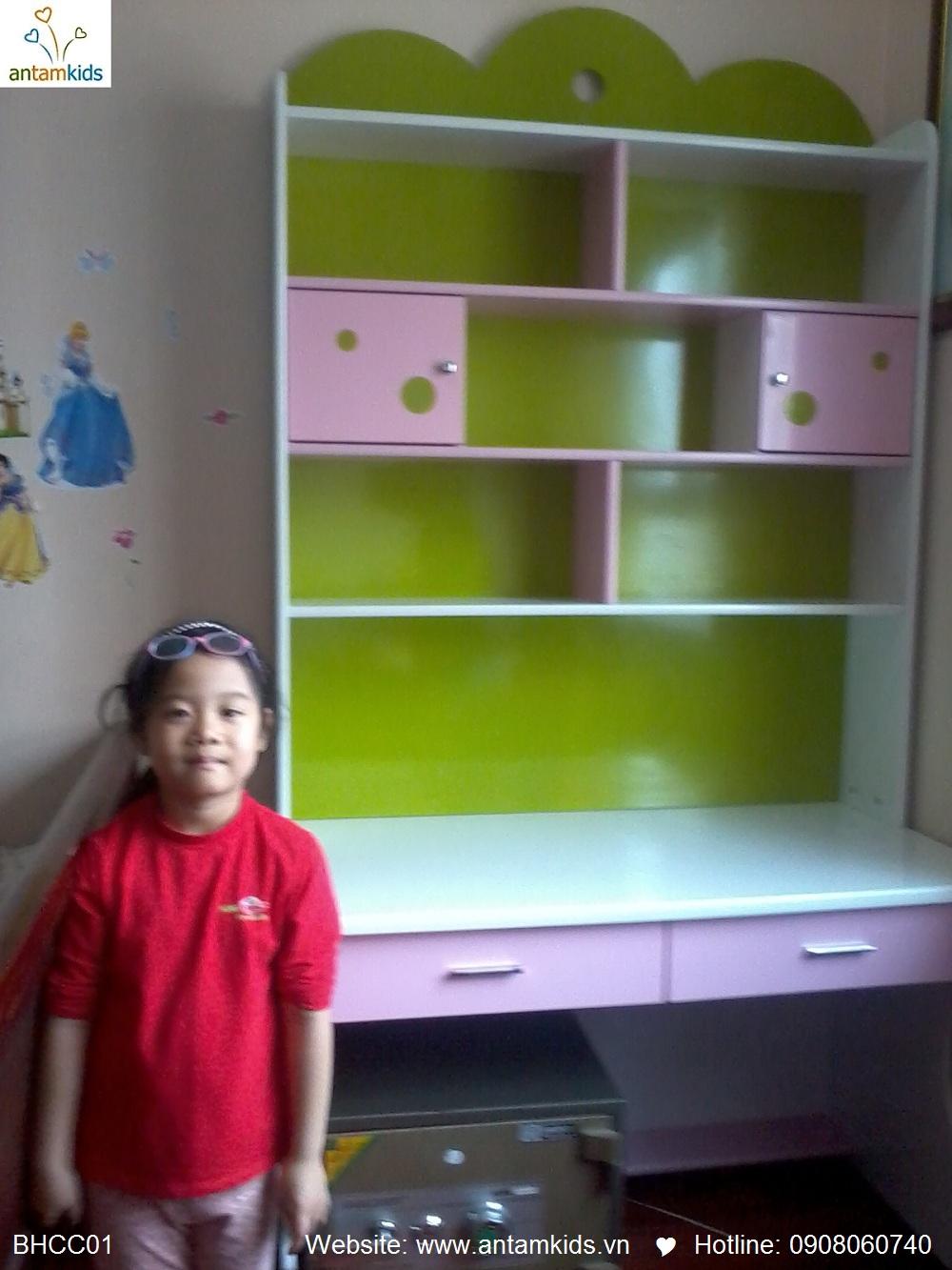 Bàn học Công chúa xinh yêu cho bé Bảo Châu, con gái yêu của mẹ Thanh Tâm_THNC, Hà Nội, ban hoc tre em, ban ho cho be, ban hoc dep