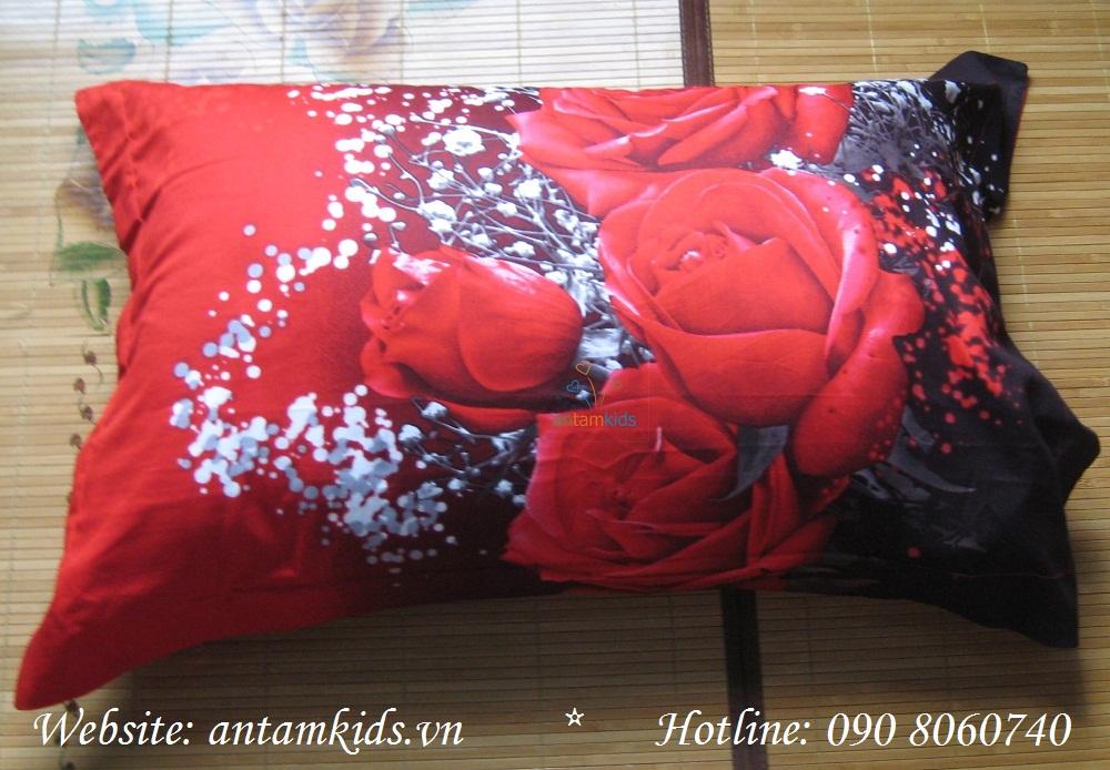 Gối 3D Hoa hồng đỏ G3D01