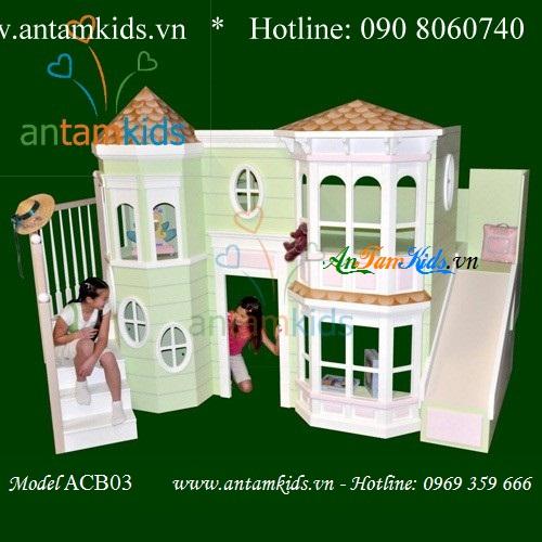Giường ngủ lâu đài cho bé yêu antamkids.vn