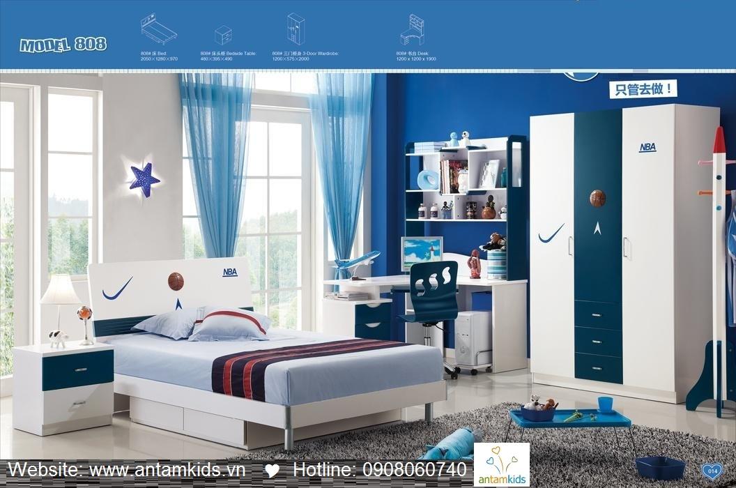 Phòng ngủ trẻ em H808 xinh xắn giá cực tốt  Noi That Tre Em AnTamKids