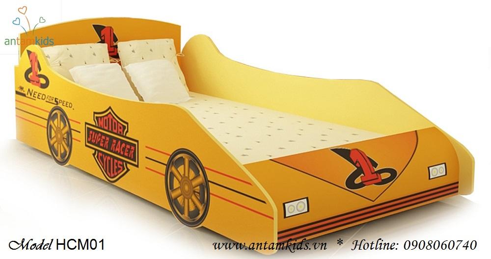 Giường ô tô em bé màu vàng đáng yêu cho bé - Giá tiền: 4,000,000 VNĐ - AnTamKids.vn