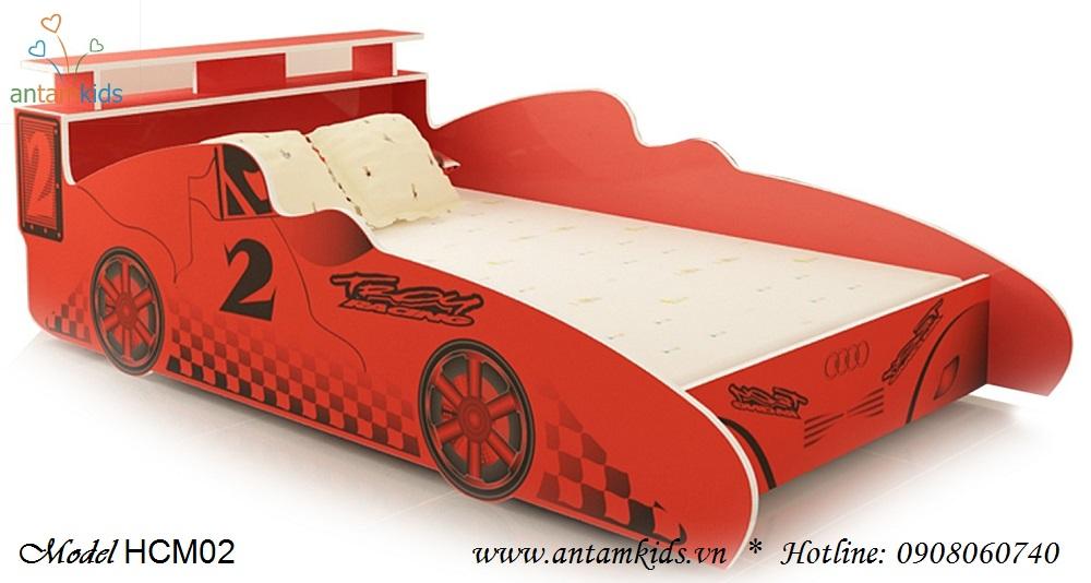Giường ô tô trẻ em màu đỏ ngộ nghĩnh xinh yêu - Giá tiền: 4,000,000 VNĐ - AnTamKids.vn