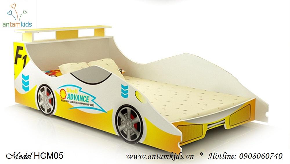 Giường ô tô màu vàng cực kute cho bé - Giá tiền: 4,000,000 VNĐ - AnTamKids.vn