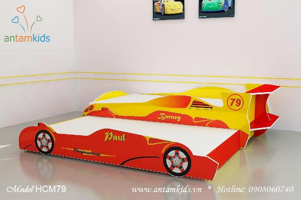 Giường ô tô 2 tầng kéo - Giá tiền: 6,400,000 VNĐ - AnTamKids.vn