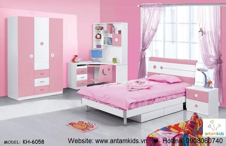 Phòng ngủ trẻ em KH-6058 đẹp thiên thần | PHONG TRE EM ANTAMKIDS
