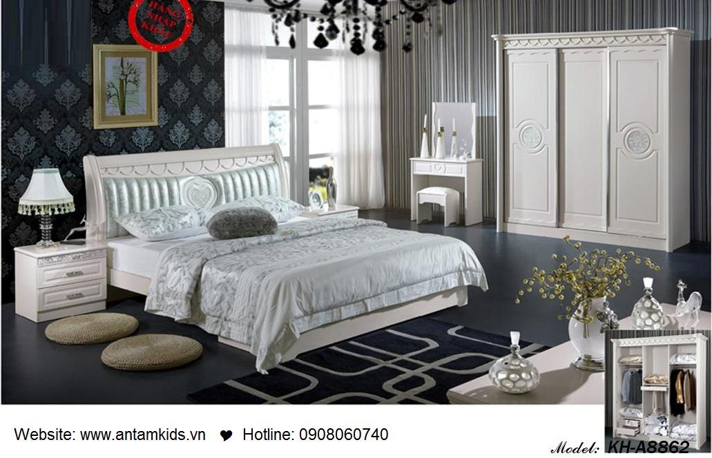 Phòng ngủ KH-A8866, noi that phong ngu, phong cuoi dep, phong ngu han quoc