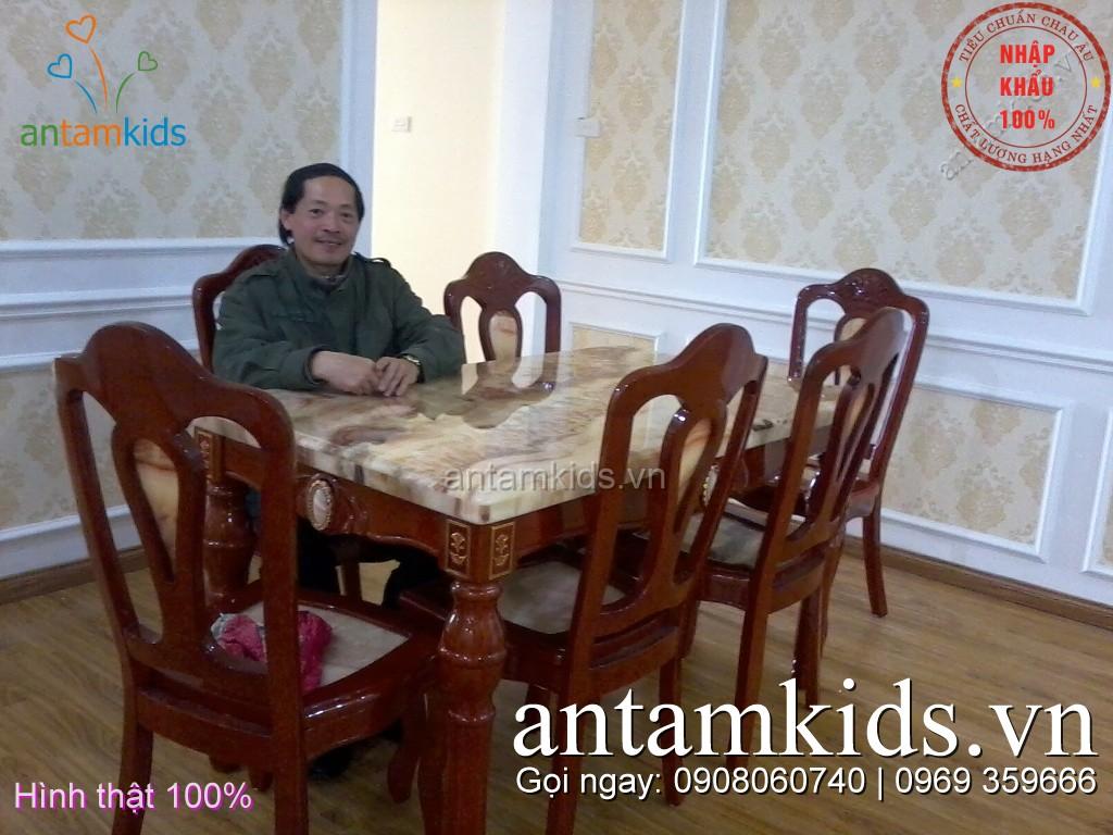 Nội thất gia đình, phòng khách, phòng ăn ban an cao cap nhap khau antamkids