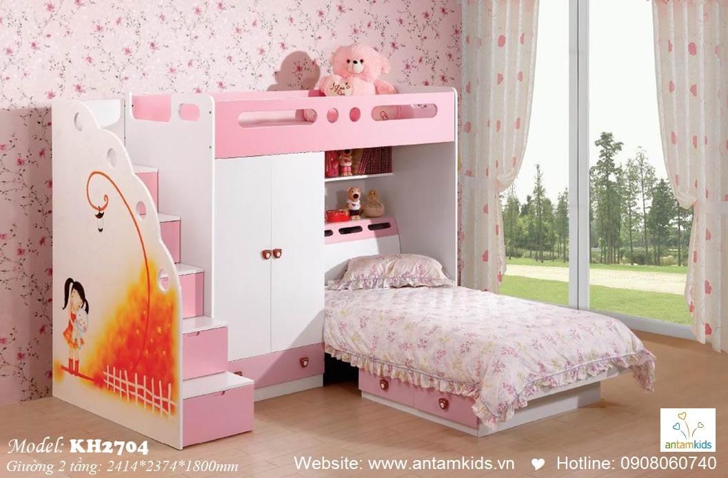 Giường tầng trẻ em KH2704