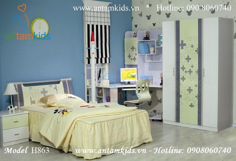 Bộ phòng ngủ xinh cho bé H863