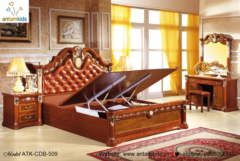 Nội thất cổ điển ATK-CDB-509, Giường ngủ cổ điển