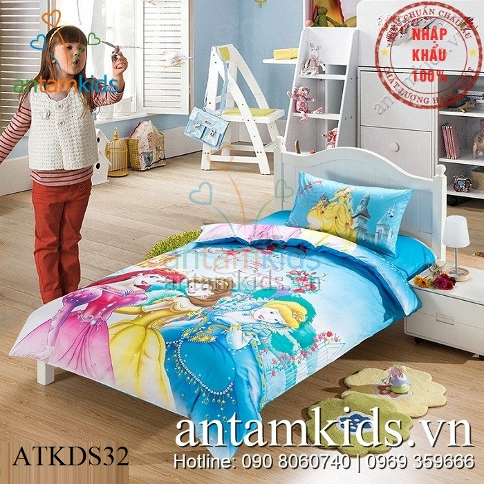 Chăn ga gối Công chúa Disney, Drap trải giường siêu xinh cho bé gái