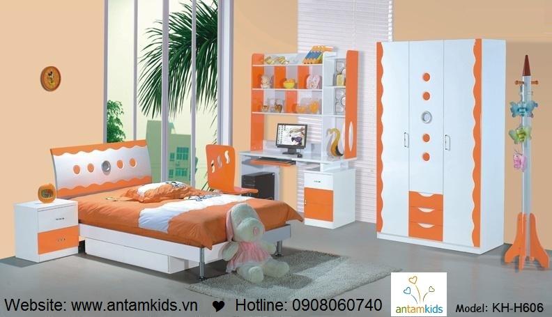 Phòng ngủ trẻ em KH-H606 đẹp thiên thần | PHONG TRE EM ANTAMKIDS