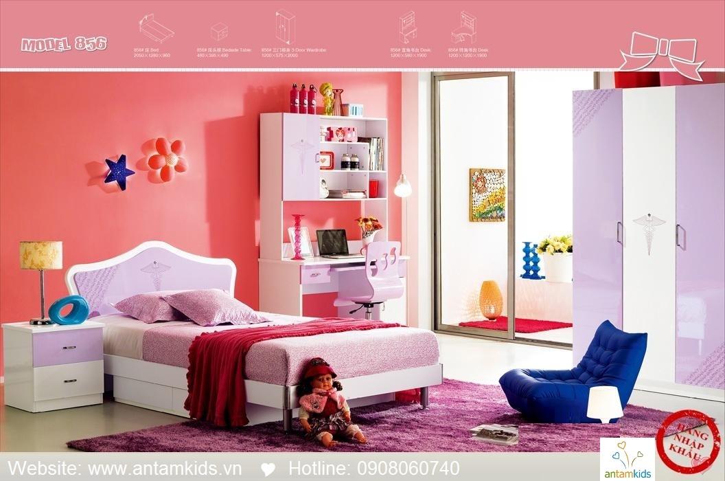 Phòng ngủ trẻ em H856 xinh xắn giá cực tốt| Noi That Tre Em AnTamKids