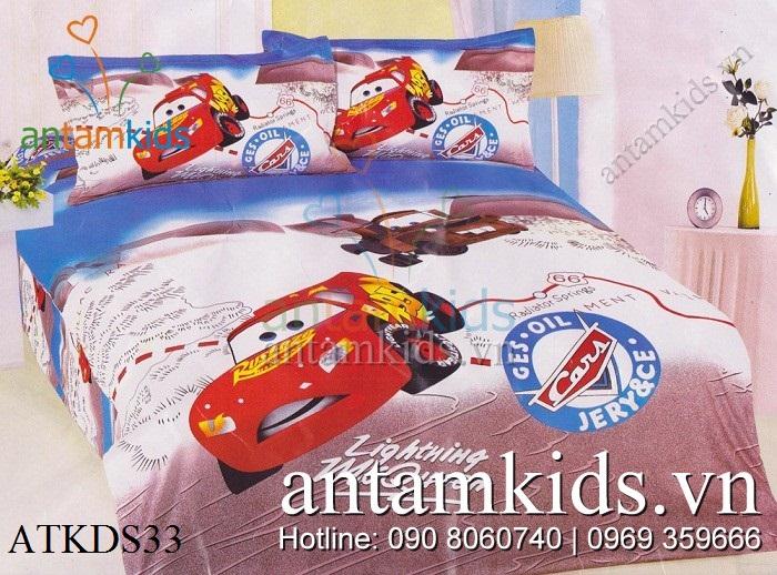 Chăn ga gối hình ô tô McQueen tia chớp cực sành điệu cho bé trai mê xe
