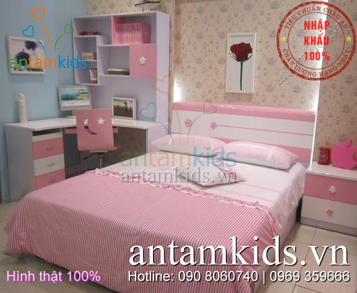 Phòng ngủ cho bé gái  antamkids.vn