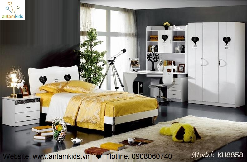 Phòng ngủ KH8858 đẹp & sang trọng   Noi That Phong Ngu AnTamKids